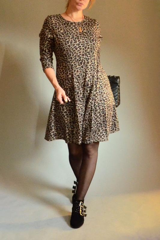 4360\30 теплое платье с леопардовым принтом m&co xl, цена - 200 грн, #47426535, купить по доступной цене   Украина - Шафа