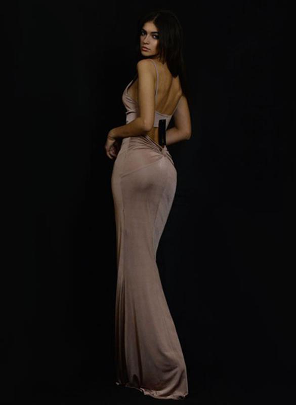 97ebc66bc5f Сексуальное облегающее вечернее платье в пол с открытой спиной и глубоким  декольте lustre1 фото ...