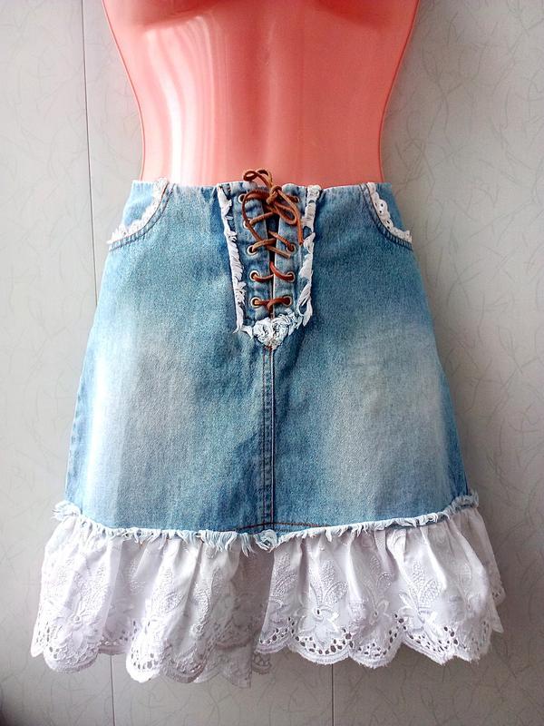 Купить дешево юбки джинсовые