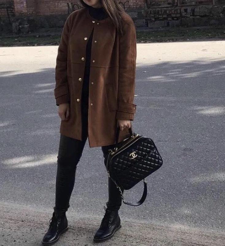 Замшевое коричневое пальто тренч куртка демисезонное пиджак ZARA, цена - 450 грн, #47866591, купить по доступной цене | Украина - Шафа