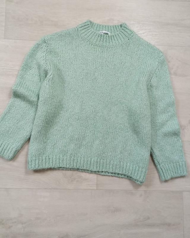 Мятный вязаный свитер zara ZARA, цена - 600 грн, #47976366, купить по доступной цене   Украина - Шафа