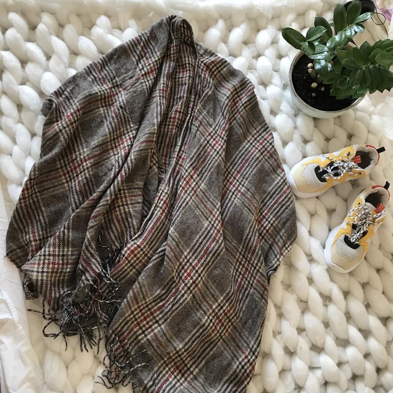 Шарф плед в клетку клеточку пончо большой объёмный шарфик платок теплый New Look, цена - 190 грн, #48231813, купить по доступной цене   Украина - Шафа
