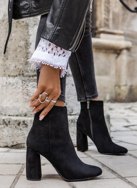 Шикарные замшевые ботинки на каблуке с острым носиком New Fashion, цена - 749 грн, #48238351, купить по доступной цене | Украина - Шафа