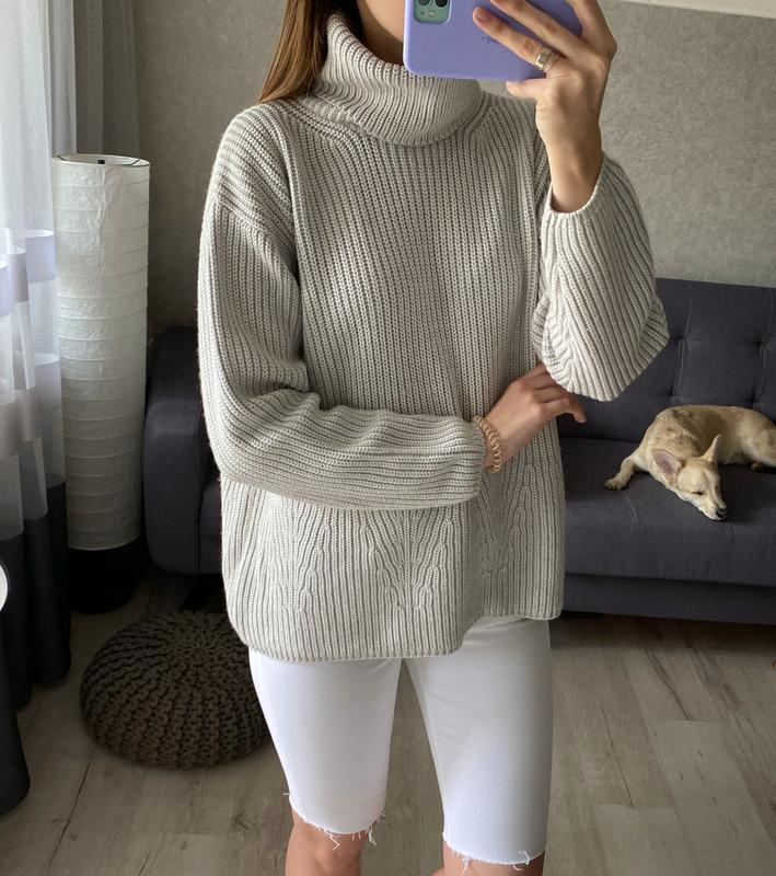 Плотный свитер с объёмной горловиной cassis шерстяной CASSO, цена - 350 грн, #48240940, купить по доступной цене | Украина - Шафа