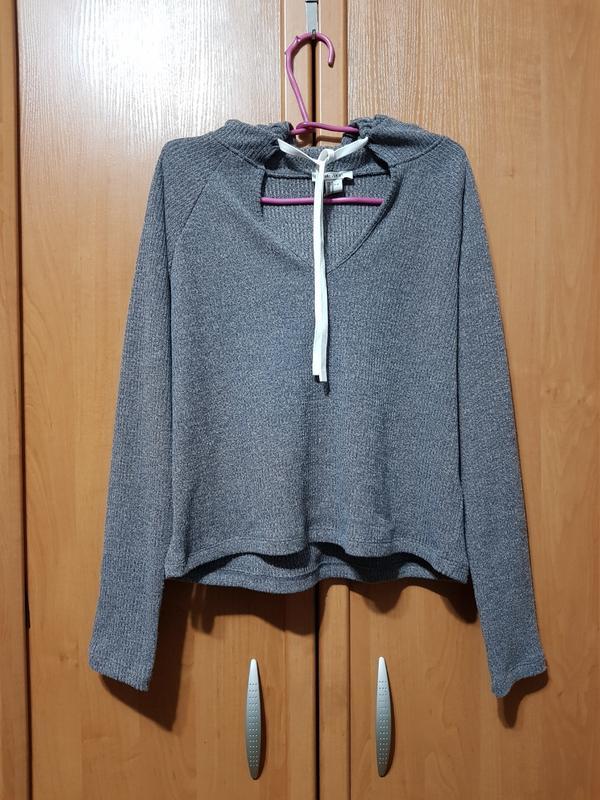 Стильный серый свитшот с капюшоном, красивый серый свитер, свитерок, кофта оверсайз Forever 21, цена - 150 грн, #48263292, купить по доступной цене   Украина - Шафа