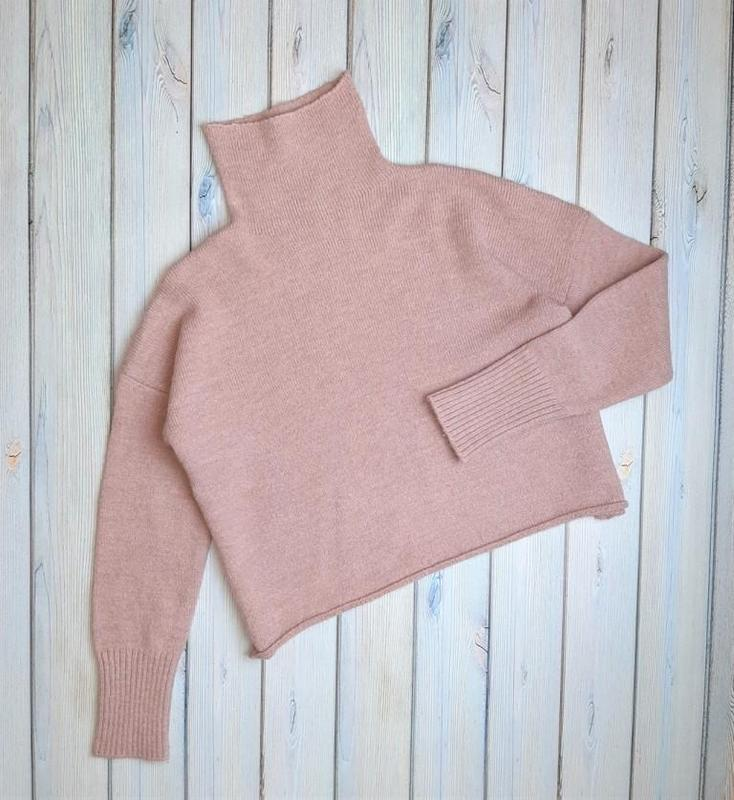 ?1+1=3 мягкий розовый свитер оверсайз под горло шерсть, размер 46 - 48 United Colors Of Benetton, цена - 499 грн, #48322678, купить по доступной цене   Украина - Шафа