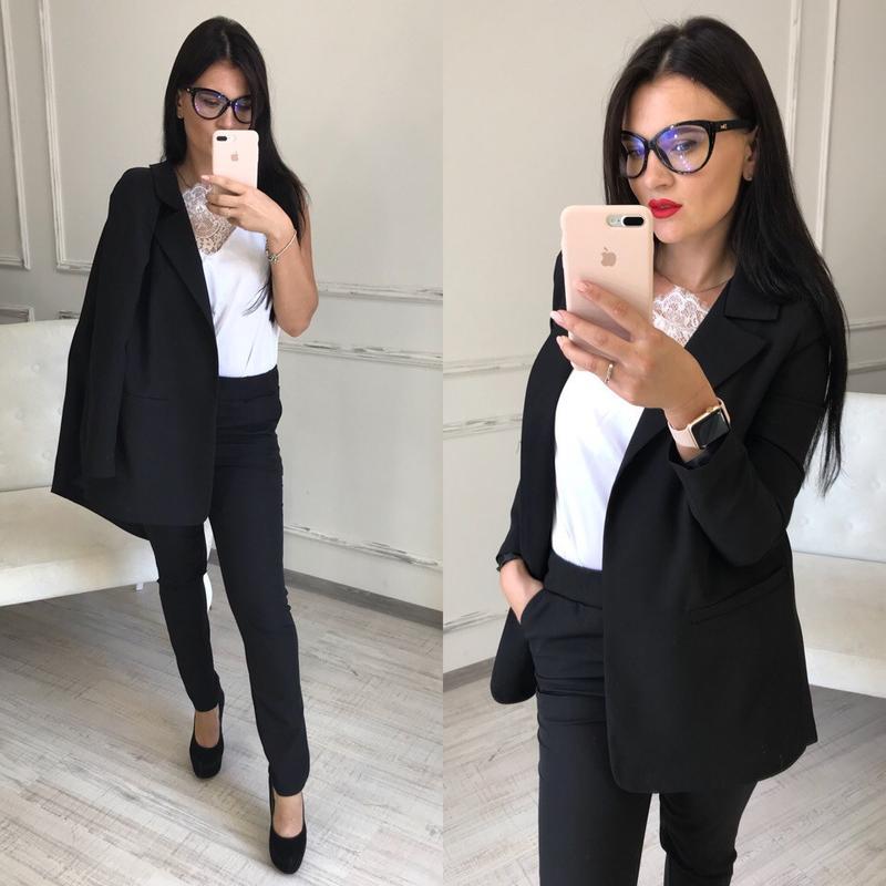 Чёрный удлинённый пиджак на осень Lindex, цена - 250 грн, #48362588, купить по доступной цене | Украина - Шафа