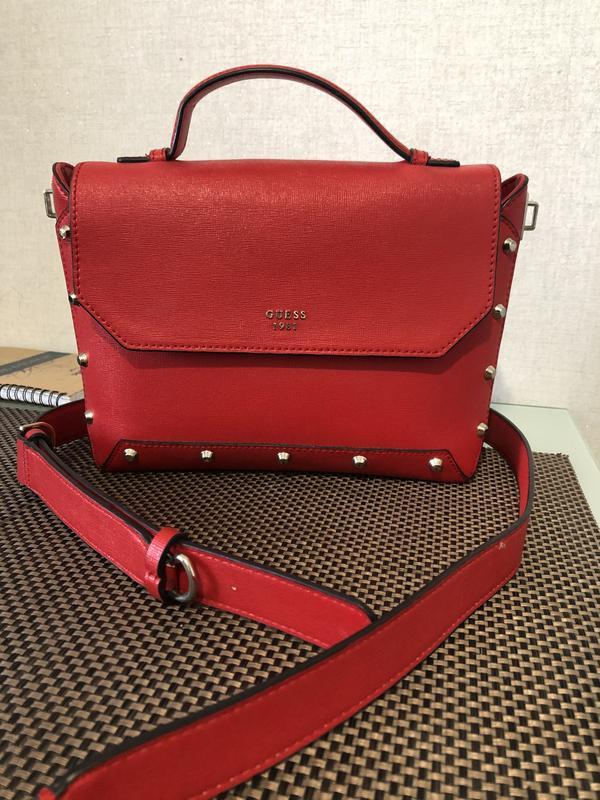 Красная сумка guess оригинал Guess, цена - 1500 грн, #48517743, купить по доступной цене | Украина - Шафа