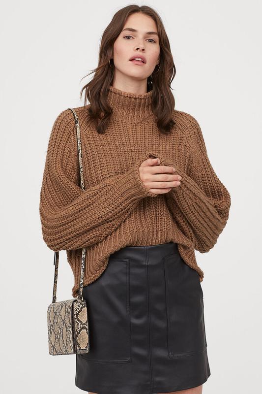 Оверсайз свитер с горлом крупной вязки h&m H&M, цена - 499 грн, #48547932, купить по доступной цене | Украина - Шафа