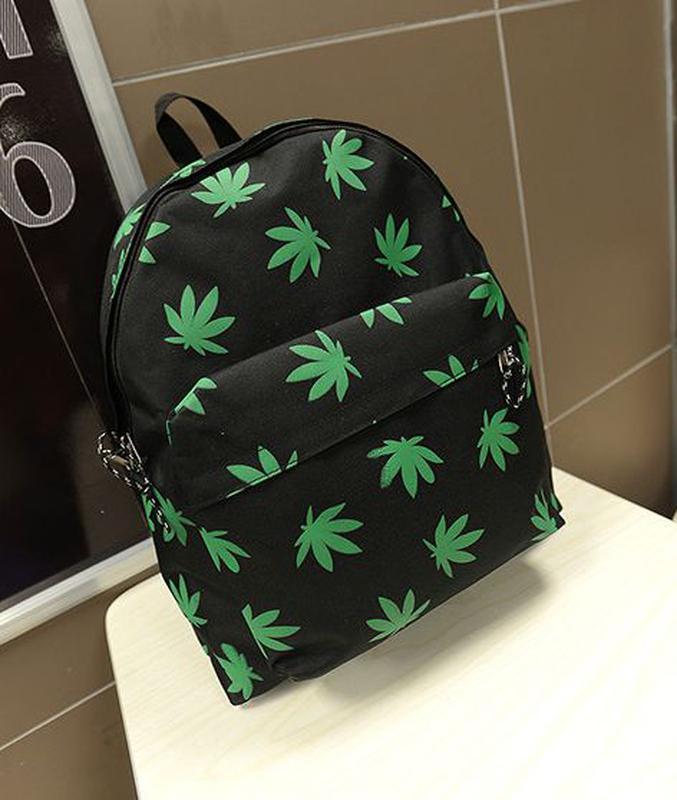 Рюкзак с принтом марихуаны конопля техническая купить