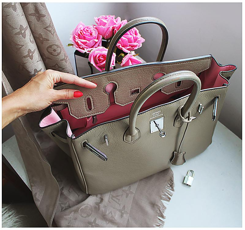 35f95f5b6db5 Натуральная кожаная сумка hermes birkin редкого цвета тауп1 фото ...