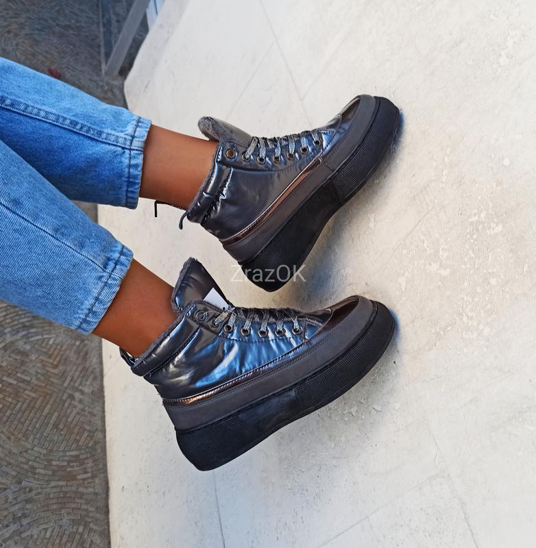 Серые графит дутики ботинки кроссовки теплые Турция, цена - 369 грн, #48951289, купить по доступной цене | Украина - Шафа