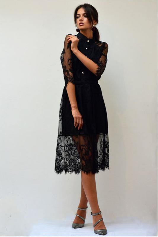9c88d0dec1a Шикарное ажурное миди платье с французского кружева на пуговицах1 фото ...