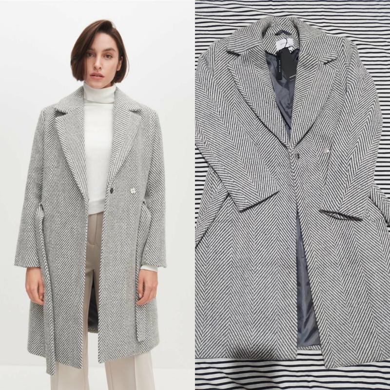 Тепле пальто в принт ялинка з поясом reserved Reserved, цена - 1099 грн, #49149303, купить по доступной цене | Украина - Шафа