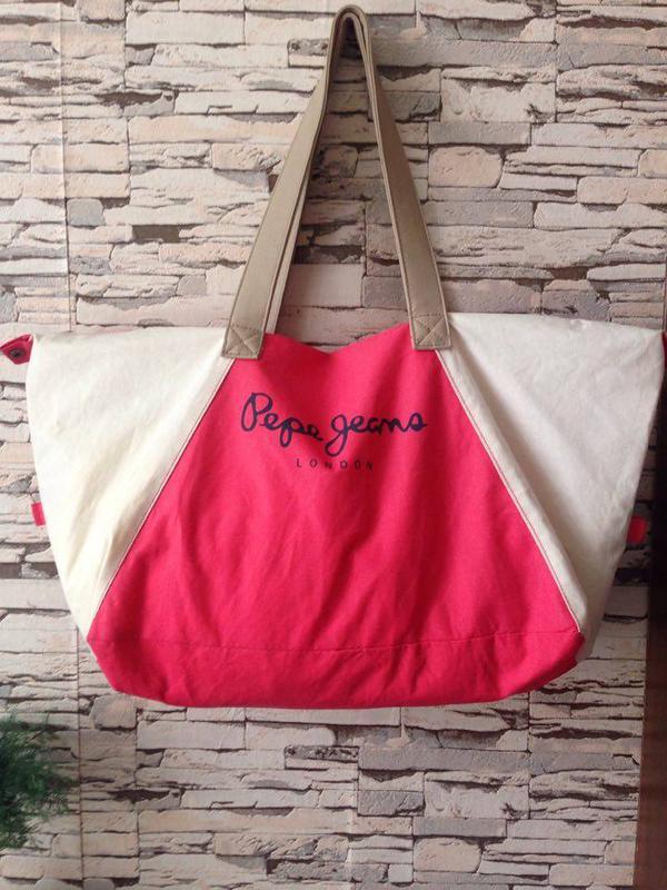 Большая летняя пляжная сумка london Pepe Jeans, цена - 195 грн ... 63243dd983a