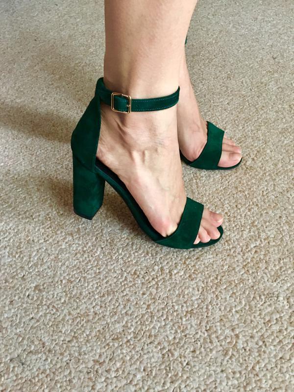 46cf1d644 Женские замшевые зеленые босоножки на устойчивом каблуке,с закрытой пяткой  ,36-41р1 фото ...