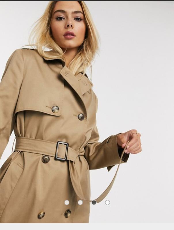 1+1=3 базовое качественное двубортное пальто тренч демисезон river island, размер 44 - 46 River Island, цена - 749 грн, #49421746, купить по доступной цене | Украина - Шафа
