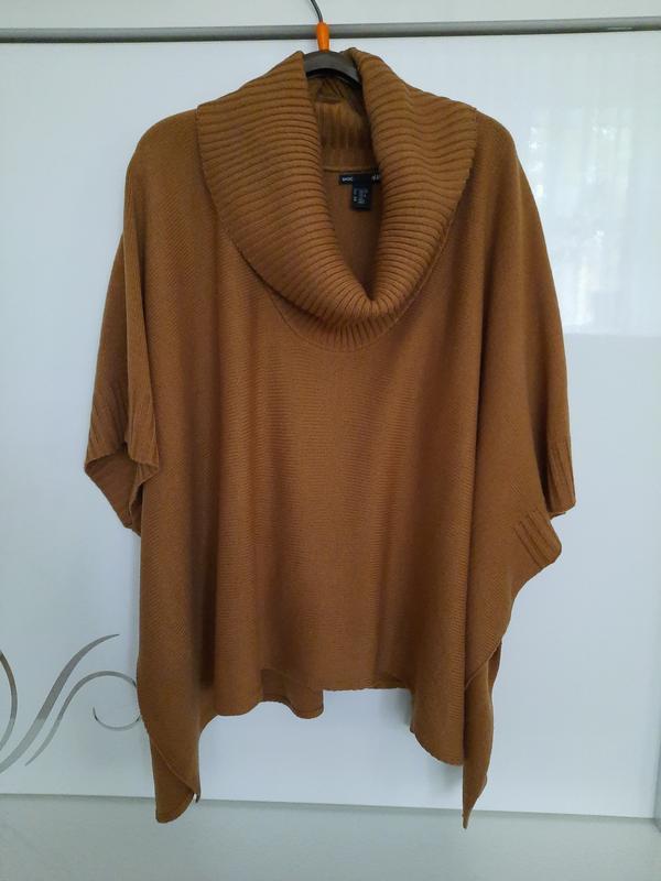 Супер свитер пончо h&m с горловиной шикарный цвет ! H&M, цена - 299 грн, #49445918, купить по доступной цене | Украина - Шафа