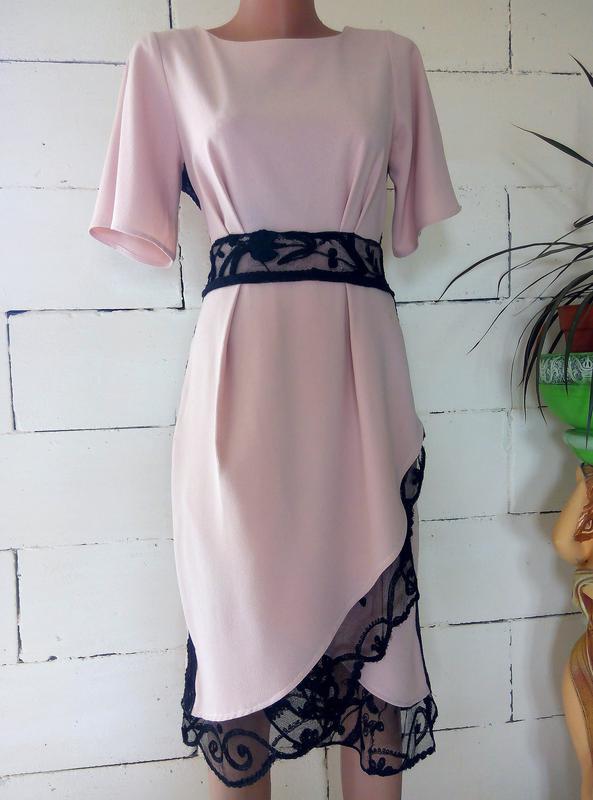 b7326c055a8 Шикарное платье миди цвета пудра