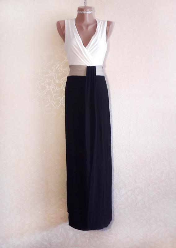f86dabf844a Стильное длинное платье на запах (l