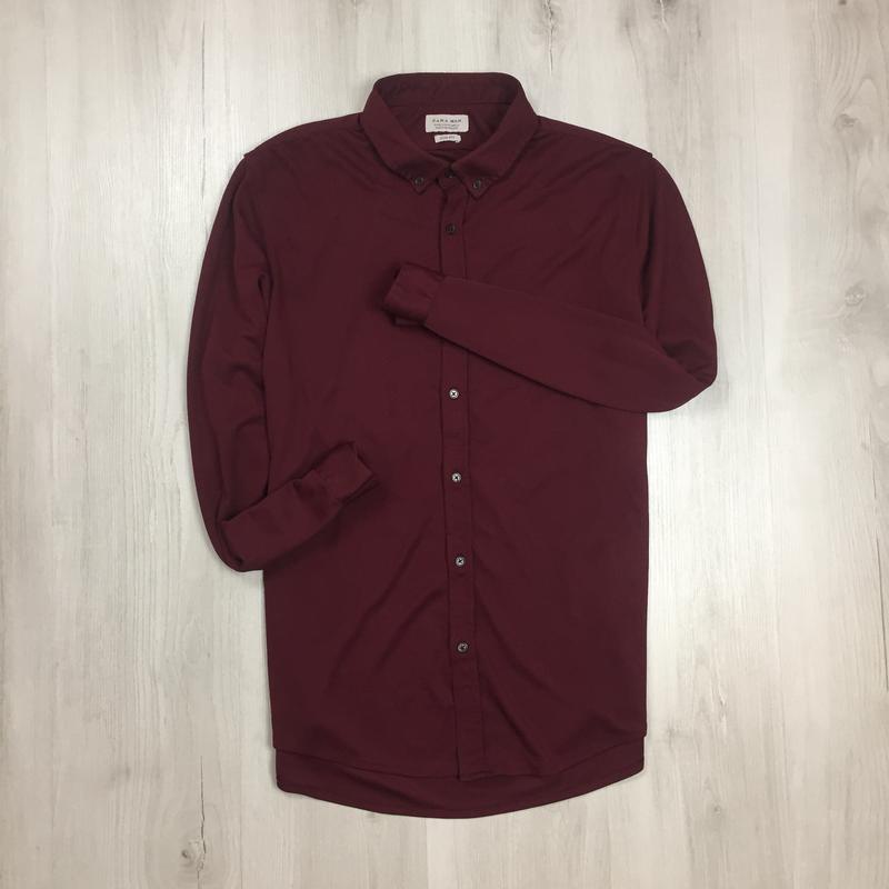 Z7 приталенная рубашка zara man бордовая красная зара ZARA, цена - 168 грн, #49638218, купить по доступной цене | Украина - Шафа