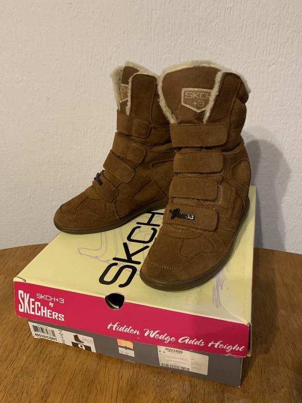Skechers , ботинки, натуральный замш, удобные. 38-39,5 Skechers, цена - 570 грн, #48410718, купить по доступной цене | Украина - Шафа