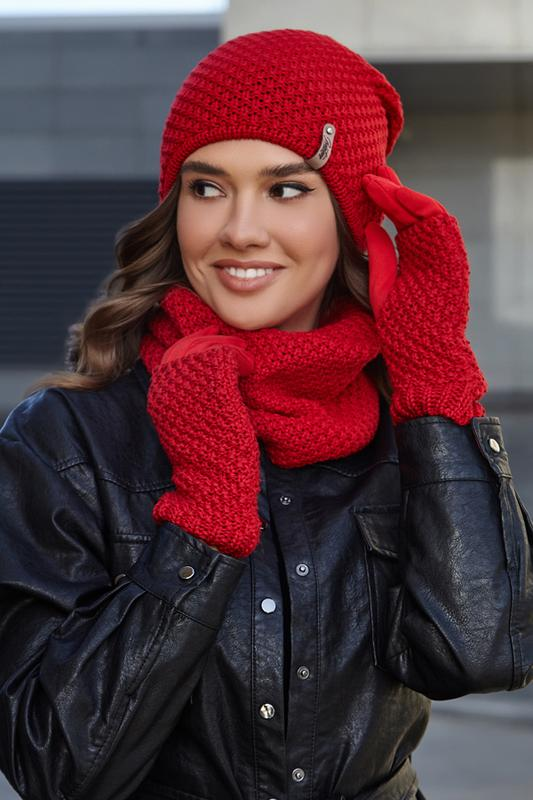 Женский комплект с перчатками и бафом Braxton, цена - 450 грн, #49827470, купить по доступной цене | Украина - Шафа
