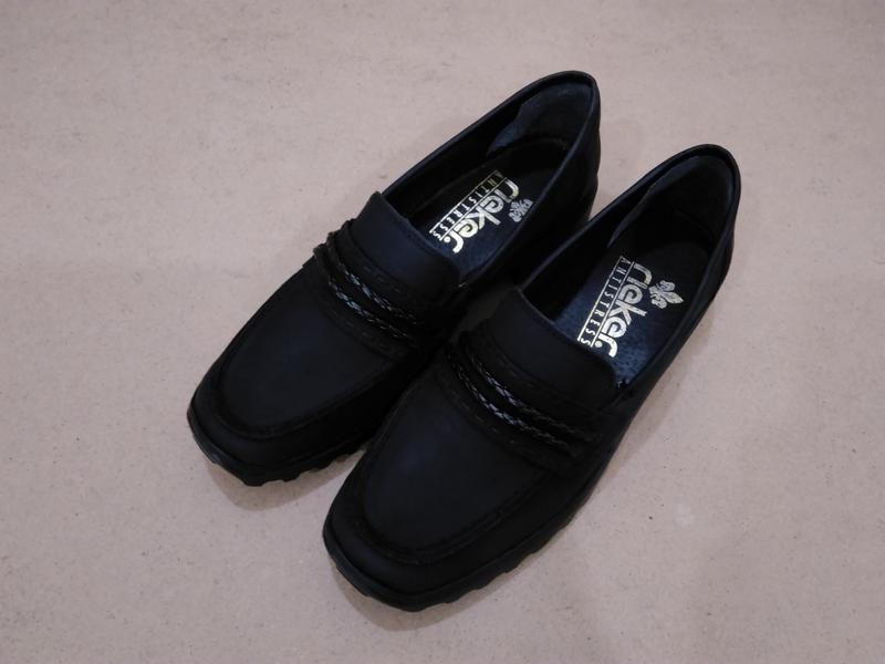 96f248223 Кожаные туфли мокасины rieker antistress черные нубук Rieker, цена ...