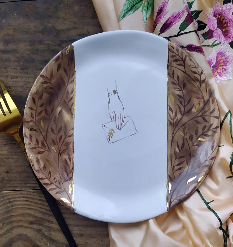 Тарелка ручной работы с авторской росписью Ручная Работа, цена - 500 грн, #50064232, купить по доступной цене | Украина - Шафа
