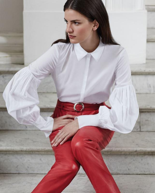 3192bb55143 Блуза с пышными рукавами h m studio1 фото ...