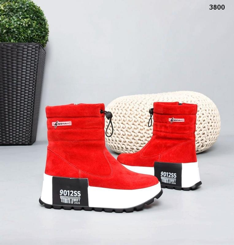 Ботинки замша красная Турция, цена - 1690 грн, #50466120, купить по доступной цене | Украина - Шафа