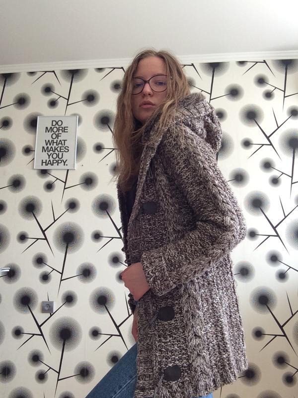 стильное вязаное пальто Oysho цена 190 грн 5979325 купить по