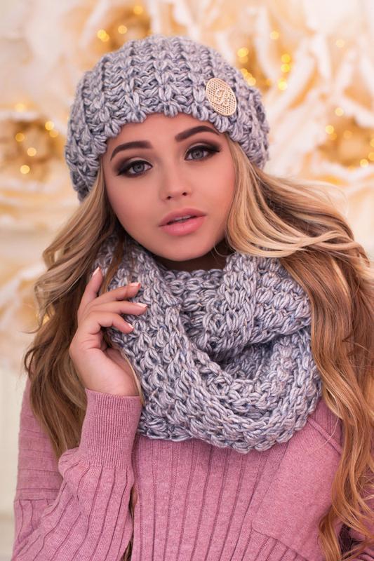 Комплект «космея» (шапка и шарф-снуд) Braxton, цена - 320 грн, #50970896, купить по доступной цене | Украина - Шафа