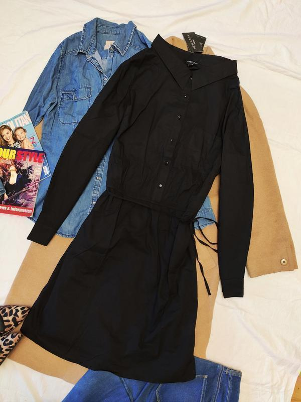 Платье рубашка чёрное лёгкое с поясом оверсайз длинный рукав миди новое new look батал New Look, цена - 450 грн, #51079170, купить по доступной цене | Украина - Шафа