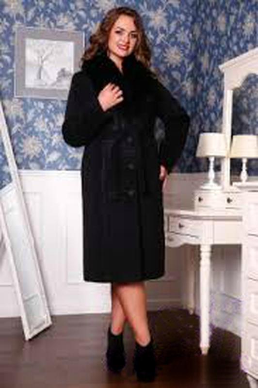 Чорне демісезонне жіноче пальто з хутром fox-trot c66a71b3a62f3