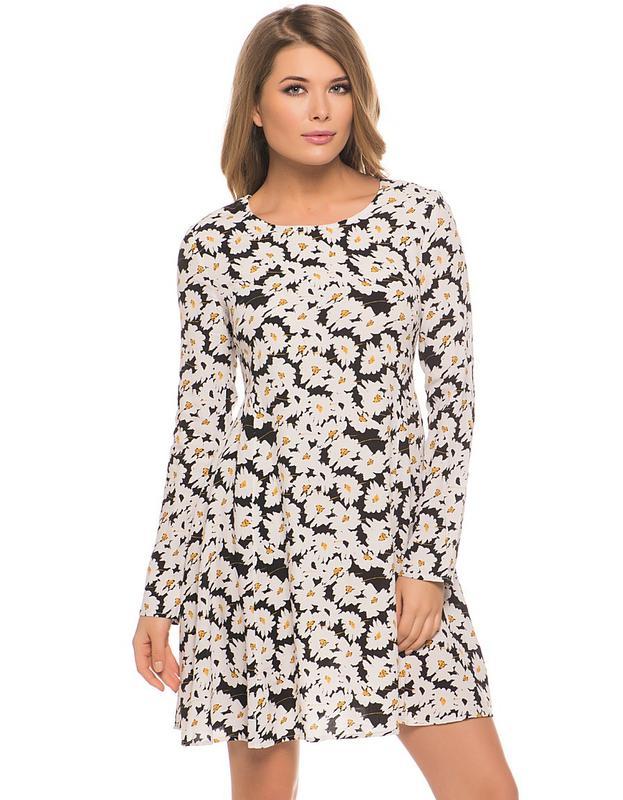 Платье бифри с ромашками
