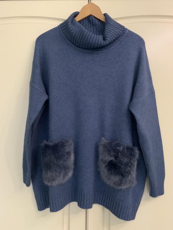 Мягкий теплый свитер с меховыми карманами, новый!, цена - 450 грн, #51403891, купить по доступной цене | Украина - Шафа
