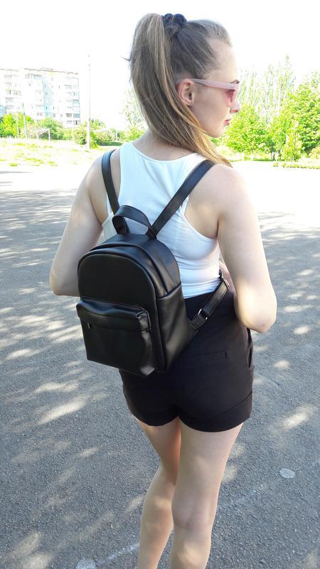 930f2a613099 Новый городской женский рюкзак кожа черный Sambag, цена - 380 грн ...
