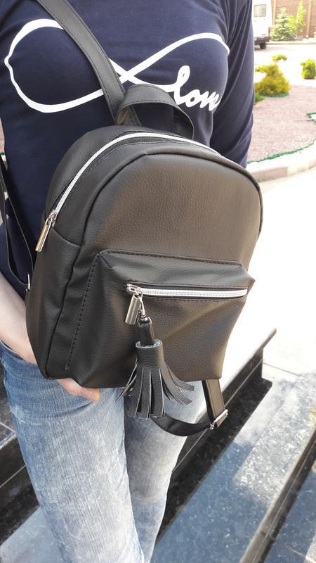 94dc7bfb093e Новый городской маленький женский рюкзак кожа черный, цена - 290 грн ...