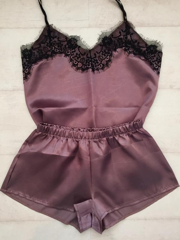 09ce15d3aab2 Атласная пижама с кружевом, цена - 170 грн, #6091585, купить по ...