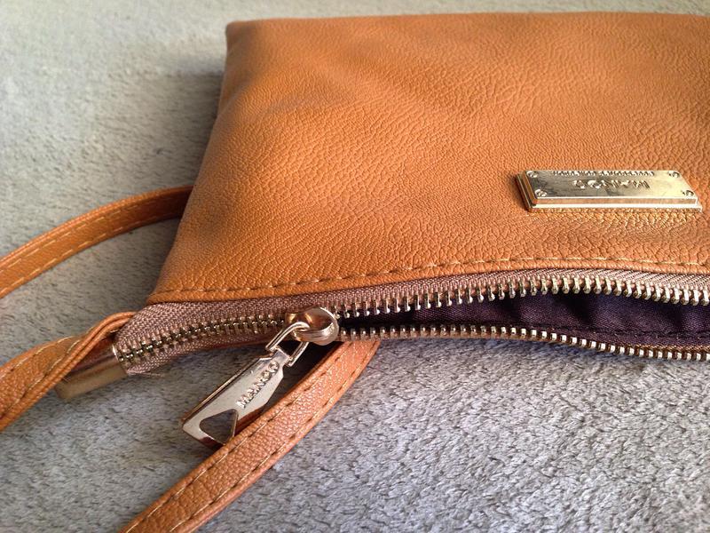 59b30d325ee4 ... Рыжая сумка mango с длинным ремешком через плечо / клатч кроссбоди5 фото