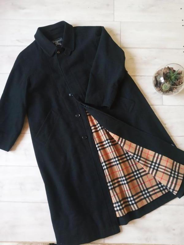 Винтажные шерстяное пальто burberry