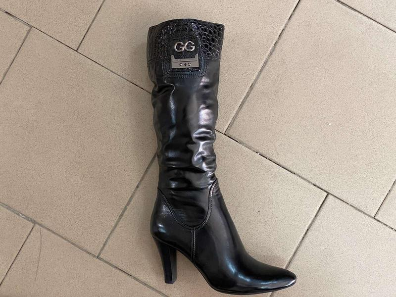 Сапоги кожаные чёрные утепленные Турция, цена - 760 грн, #52159104, купить по доступной цене | Украина - Шафа