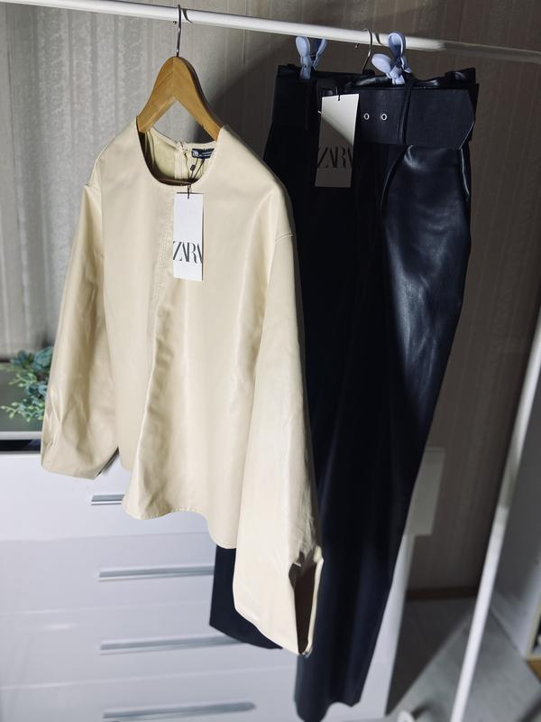 Кожаная блуза, кофта ZARA, цена - 500 грн, #52231407, купить по доступной цене   Украина - Шафа