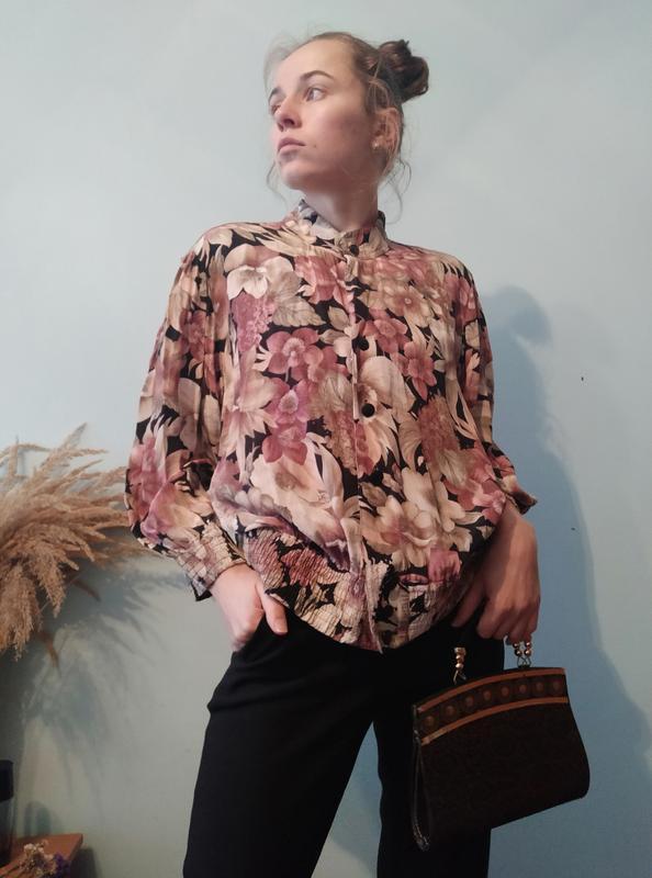Неймовірна вінтажна блуза з матовою чорною фурнітурою felicia size l/xl Felicita, цена - 111 грн, #52259479, купить по доступной цене | Украина - Шафа