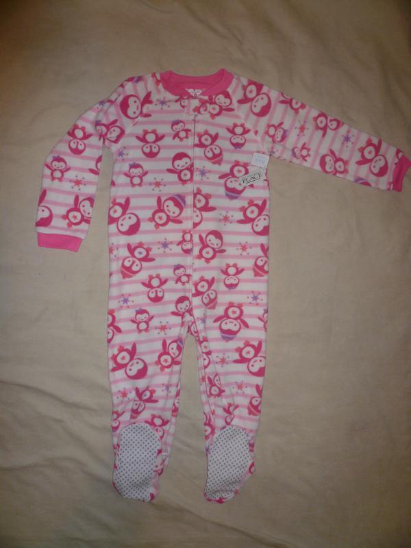Новая пижама флис сдельная чилдрен плейс 5т Children s Place 90da32c925711