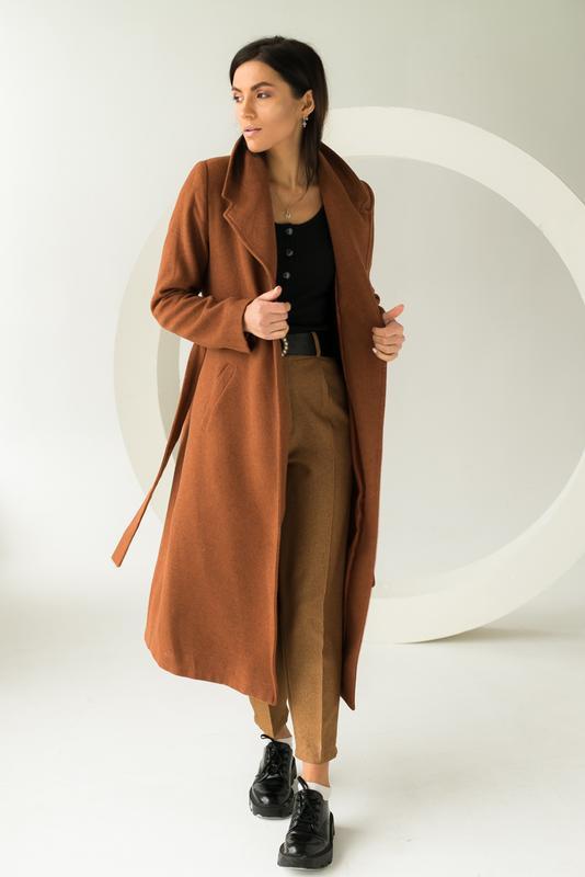 Пальто с поясом Турция, ціна - 1050 грн, #53199262, купить по доступной цене | Украина - Шафа