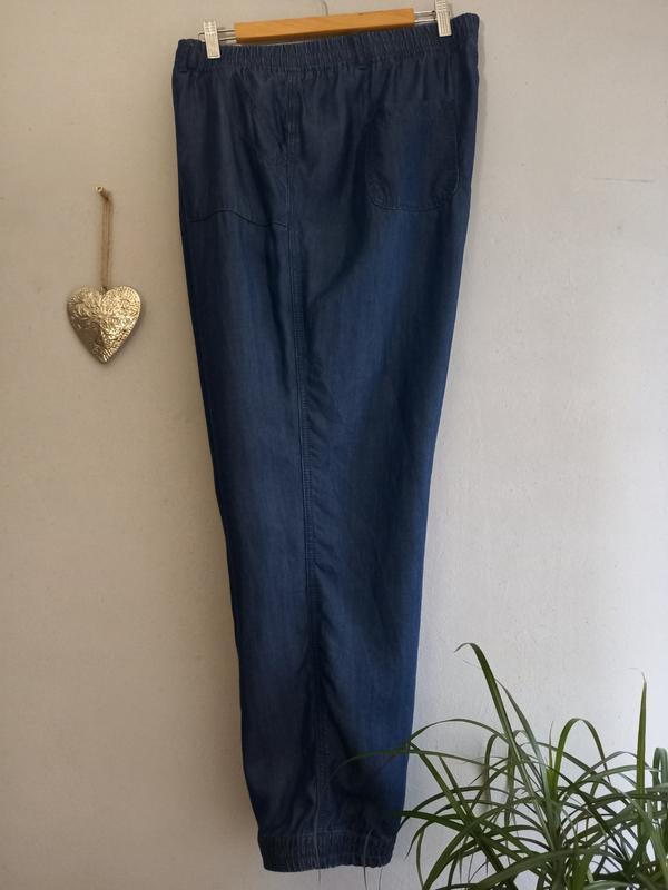 Стильные джинсы джогеры цвет индиго большой размер 20/54 лиоцелл 100% George, цена - 450 грн, #53988328, купить по доступной цене | Украина - Шафа