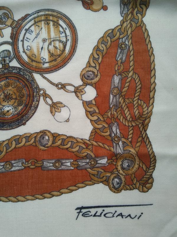 Огромный платок от feliciani с часами Felicita, цена - 120 грн, #54510190, купить по доступной цене | Украина - Шафа