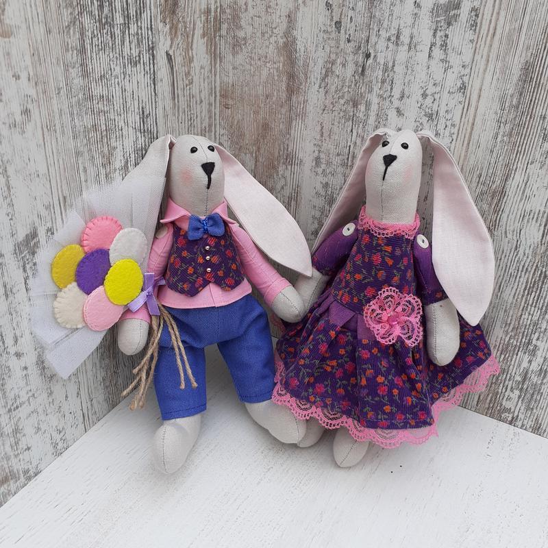 Интерьерная игрушка зайцы - тильда Ручная Работа, цена - 800 грн, #55075270, купить по доступной цене   Украина - Шафа